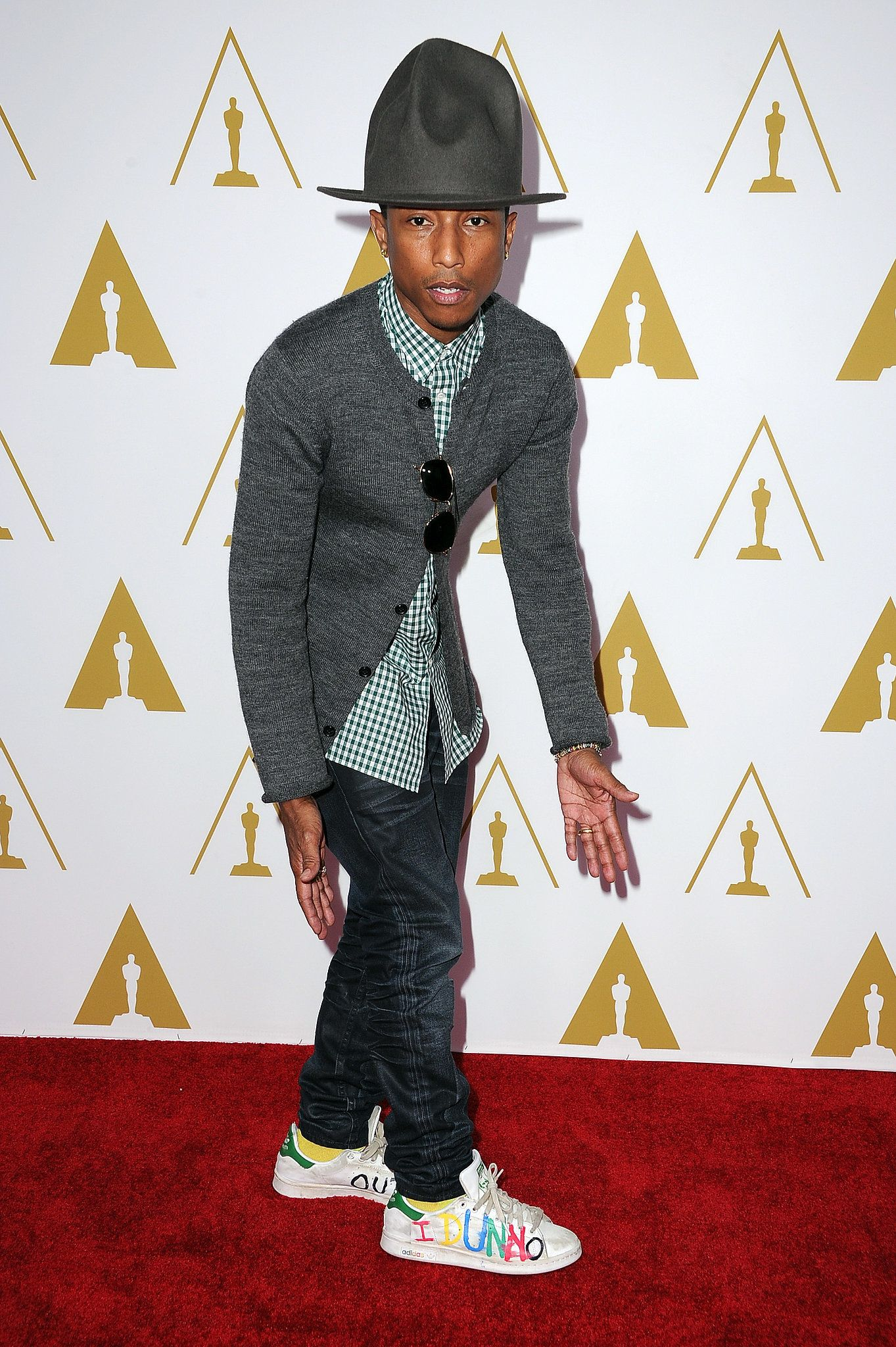 67e01611f1516 Pharrell and his hat walked the red carpet at the 2014 Oscars nominees  luncheon.