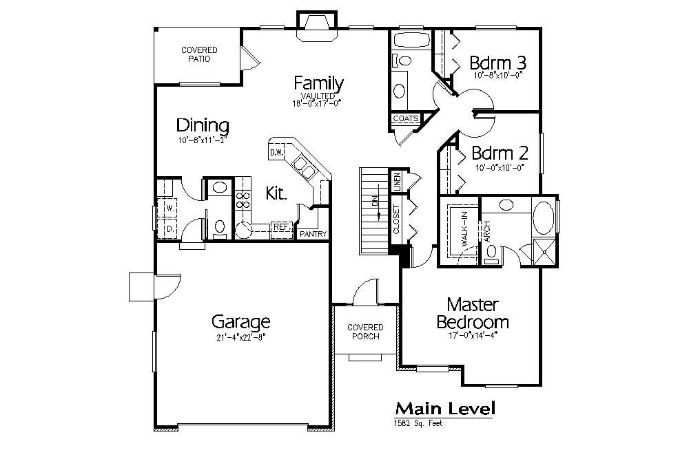 R-1582a | Hearthstone Home Design | whisper rose circle | Pinterest