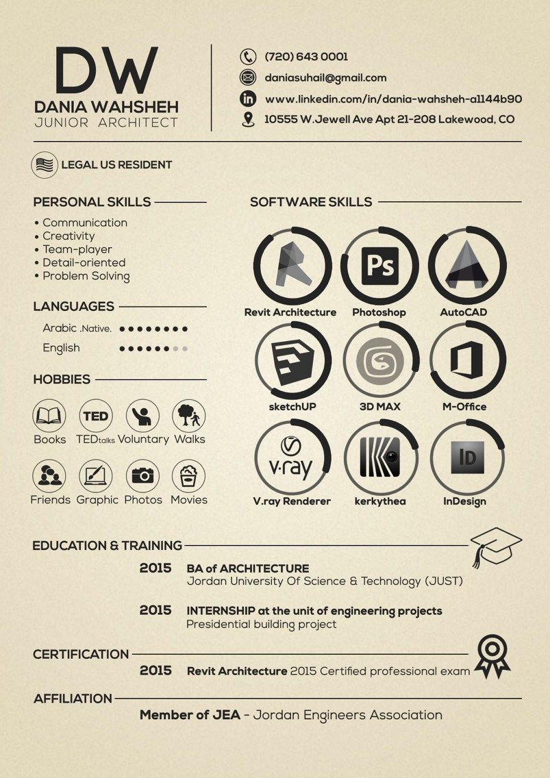Best Collection Of  Creative Architecture Resume Design