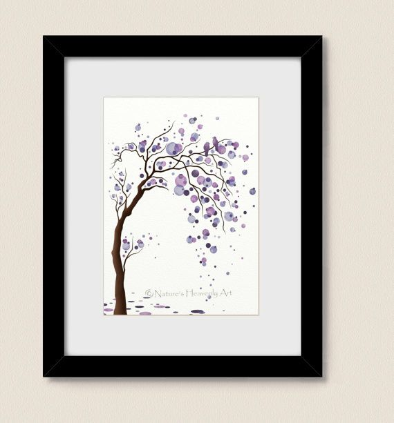 Watercolor Purple Circles Decorative Wall By Naturesheavenlyart