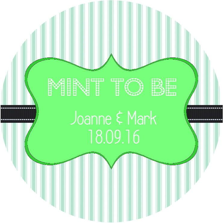 24 personalisedmint to be stickers for wedding favour sweets gloss finish in home
