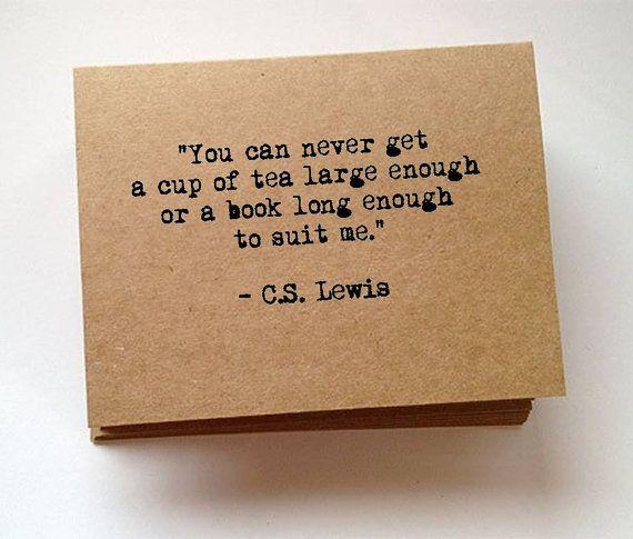 C.S. Lewis Literary Quote Typewriter Blank By JenniferDareDesigns