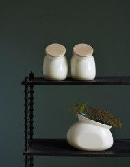 KRUM jar with wooden lid