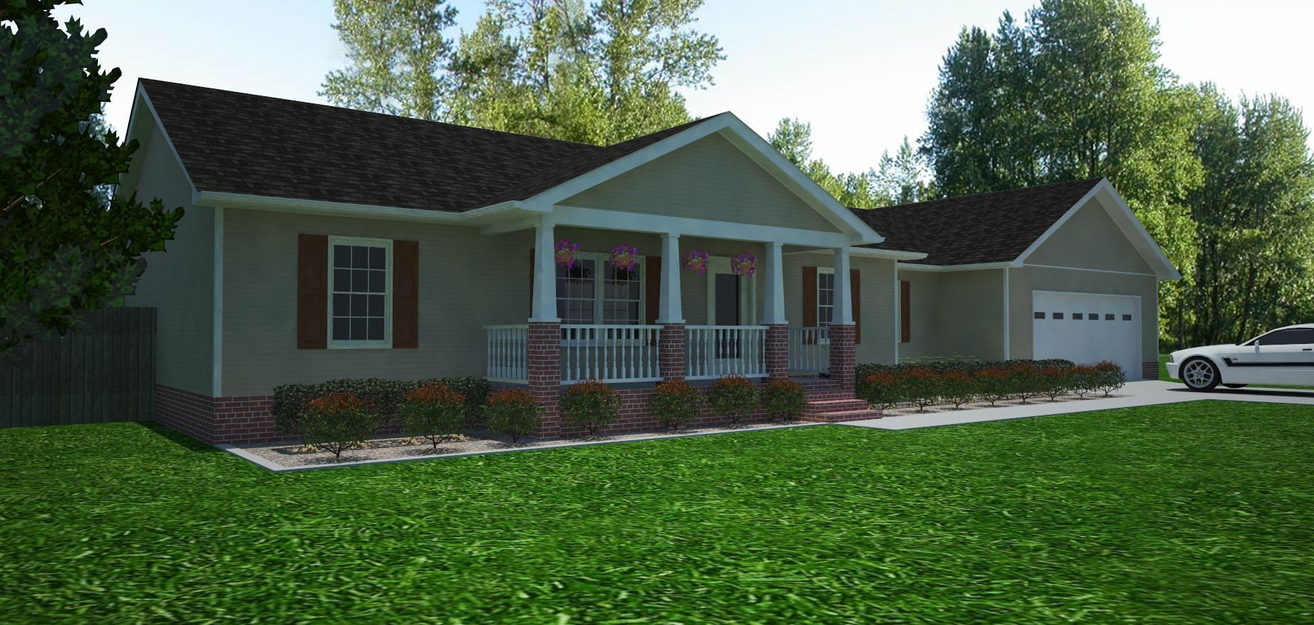 add garage to small ranch - Google Search | Small front ...