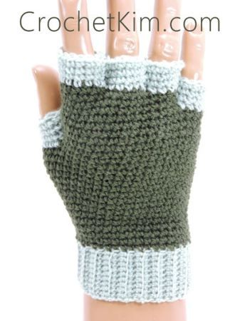 CrochetKim Free Crochet Pattern | Jersey Mitts Fingerless Mitts ...