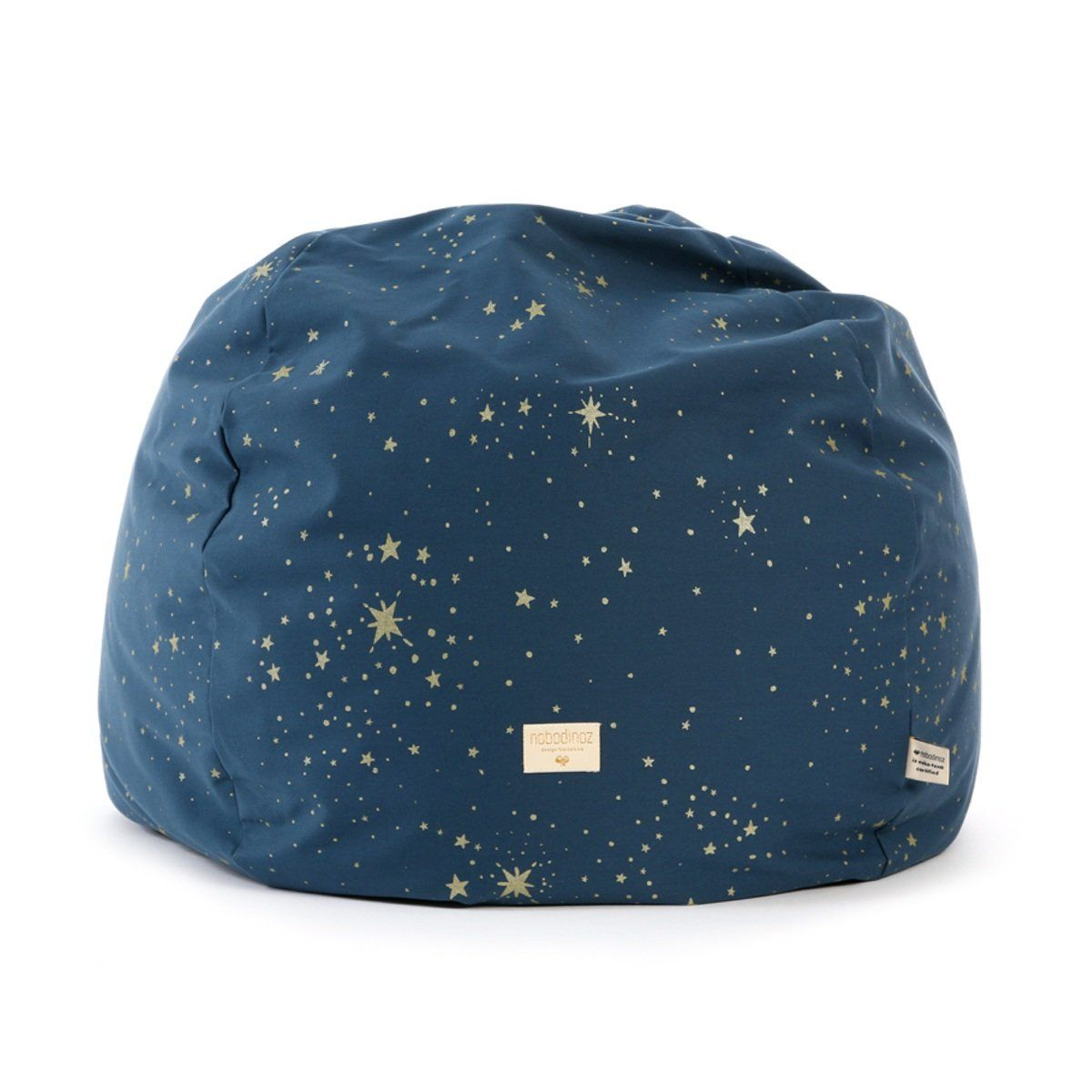 Nobodinoz KinderSitzsack Balloon dunkelblau mit Sternen
