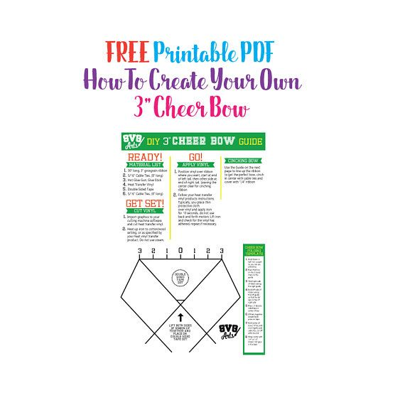 photo relating to Cheer Bow Template Printable called Pin upon Solutions