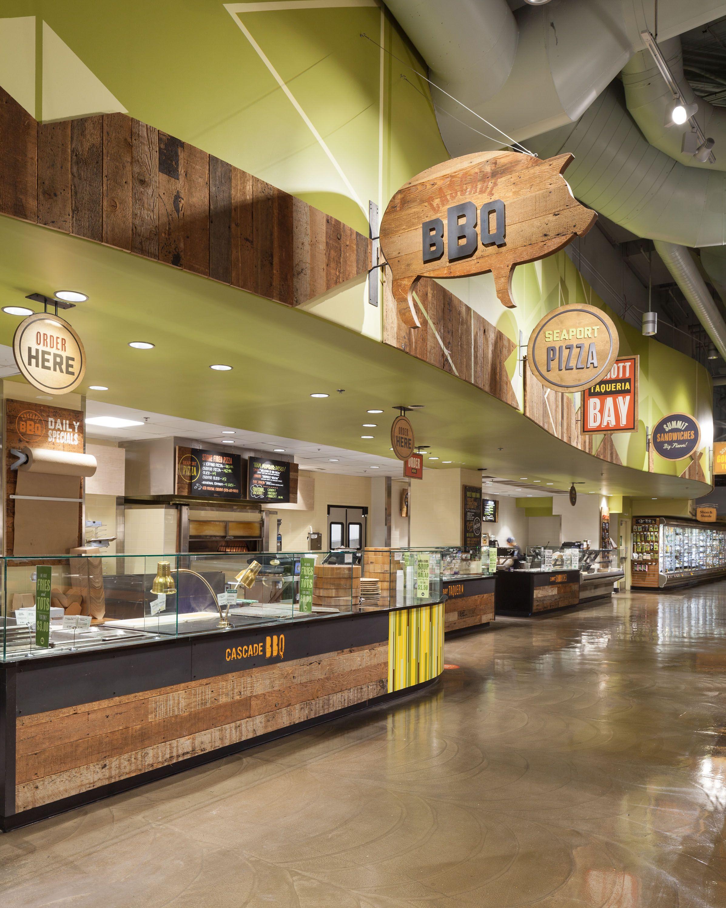 Whole Foods Seattle signage   カウンターデザイン, インテリア 家具, フロアプラン