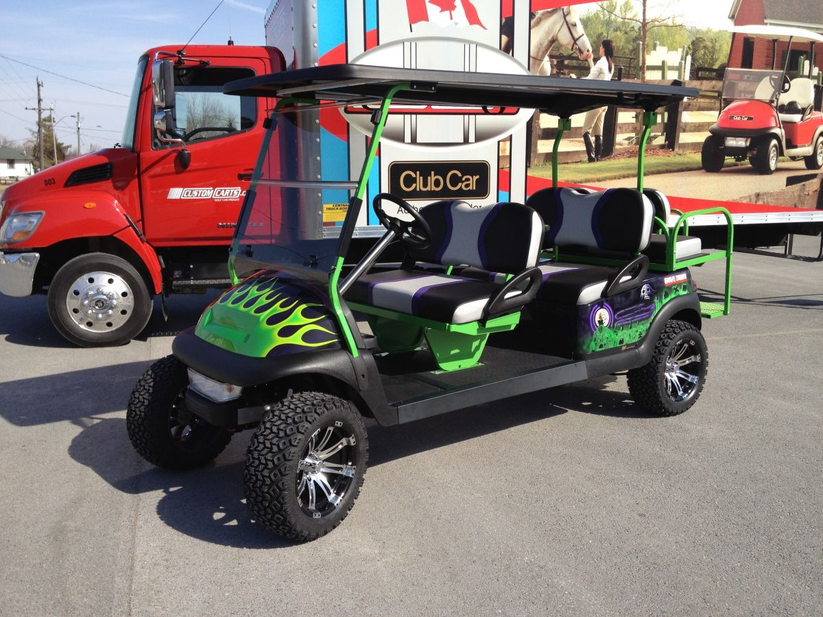 One Of A Kind Monster Truck Theme Stretch Golf Cart Golf Carts Truck Theme Golf
