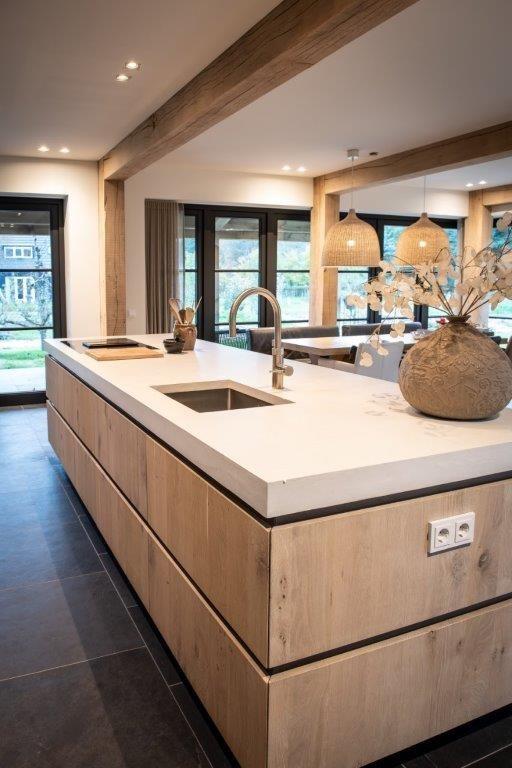 Op Maat Gemaakte Keuken Door Nb Interieurwerken Keuken Ideeen Modern Keuken Ontwerp Keuken Ontwerpen