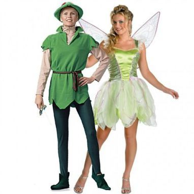 35 Lesbian Halloween Costume Ideas: Tinkerbell and Peter Pan