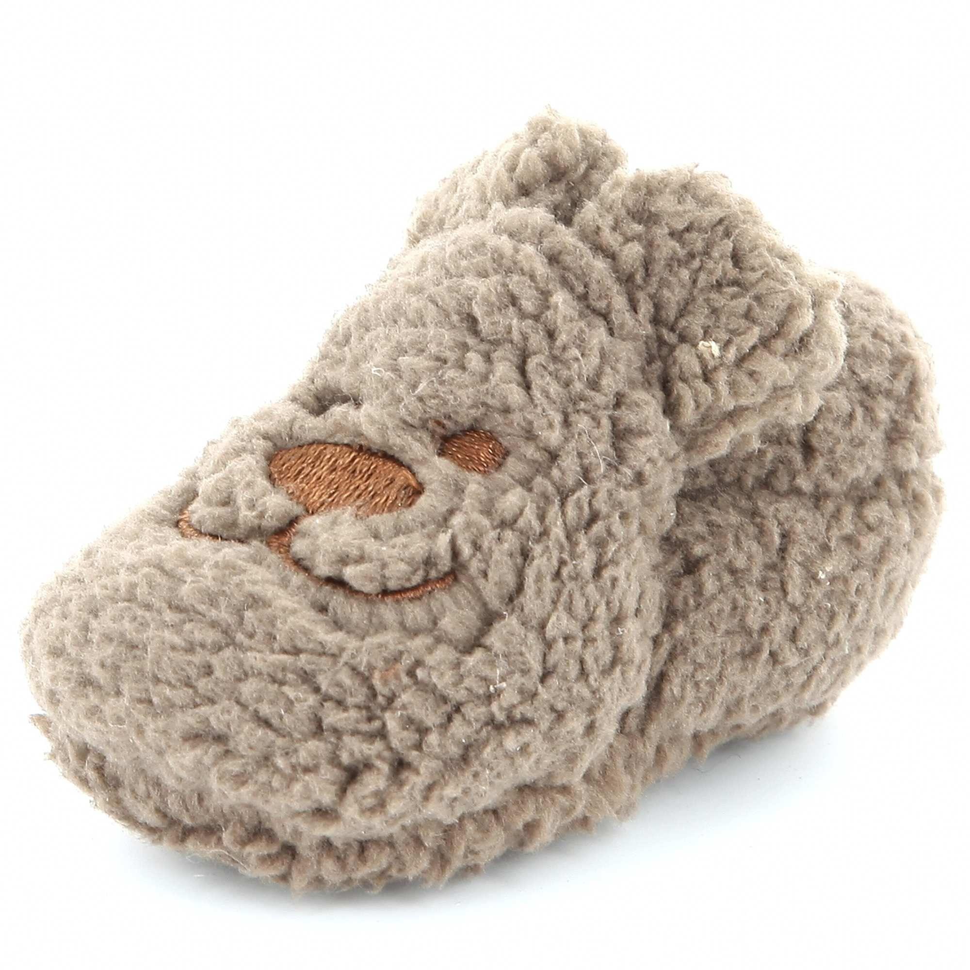 09984543c09fb Chaussons tête d animal marron ours Bébé garçon - Kiabi