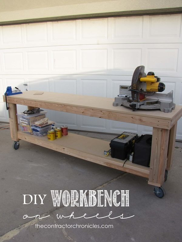 Sensational Diy Workbench On Wheels The Contractor Chronicles Gmtry Best Dining Table And Chair Ideas Images Gmtryco