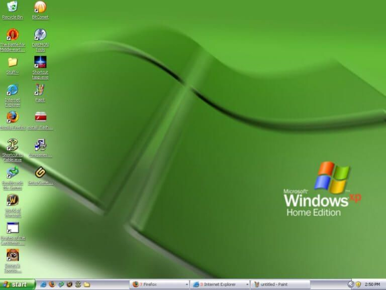 Windows Xp Home Edition Screenshot Microsoft Microsoft Windows Windows Xp