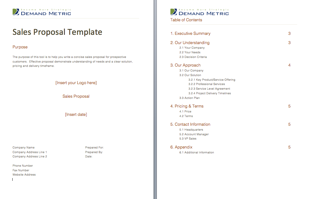Sales Proposal Use this template to provide your reps