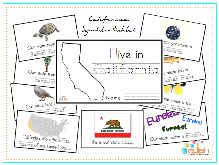 california state symbols booklets getting these for the kids best