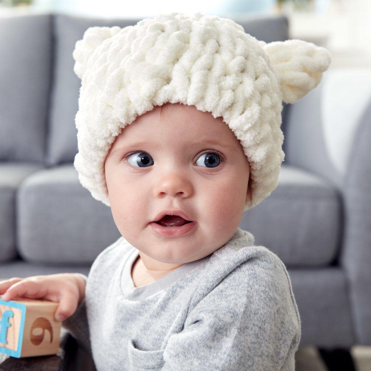 Bernat Alize EZ Baby Bear Hat - Repeat Crafter Me