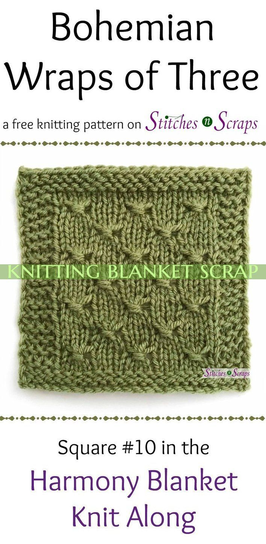 Bohemian Wraps Of Three Is Pattern In The Harmony Blanket #knittingblanketscrap ...  Bohemian Wraps Of Three Is Pattern In The Harmony Blanket #knittingblanketscrap , bohemian wraps of #Blanket #bohemian #Harmony #knittingblanketscrap #Pattern #Wraps