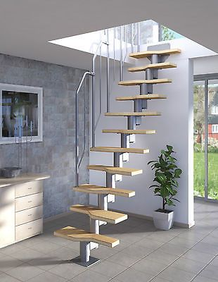 raumspartreppe mit buche holz stufen geschossh he 222 276. Black Bedroom Furniture Sets. Home Design Ideas
