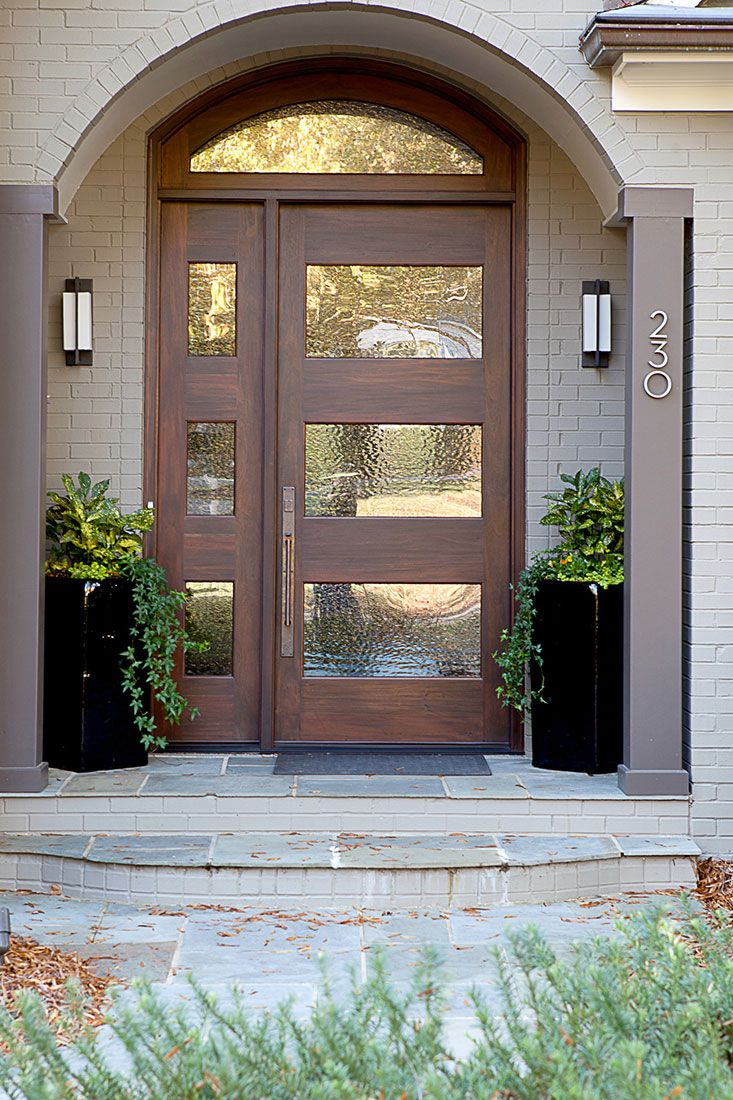 Modern Front Door With Wood Accents Home Design And Interior - Front door design for home