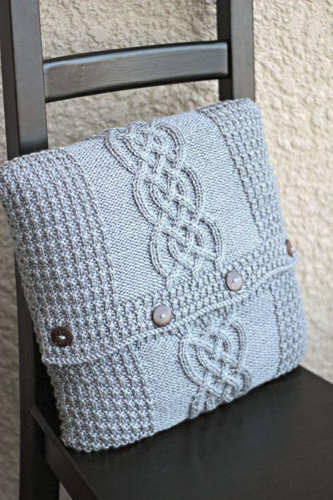 Knitting Pattern Knitting Tutorial Aran Pillow Case Cabled Pillow
