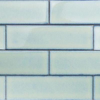 Splashback Tile Vintage Light Blue 3 In X 9 8 Mm Ceramic Wall Mosaic 5 Tiles Per Unit Vintageltblu3x9 The Home Depot