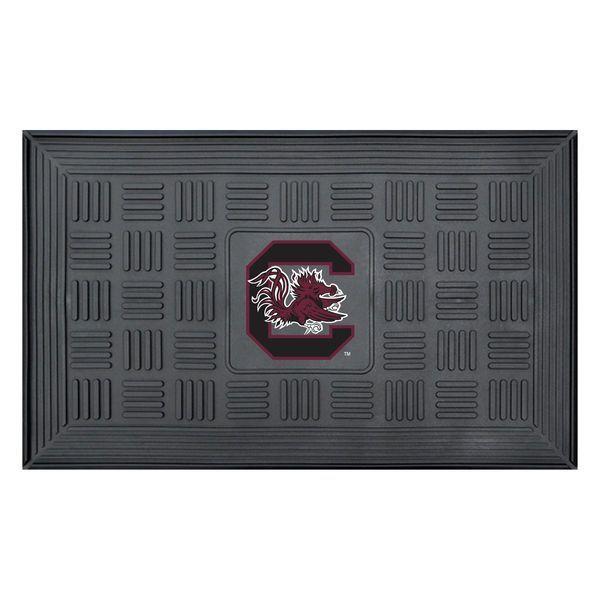 """South Carolina Gamecocks 19"""" x 30"""" Vinyl Medallion Door Mat - Black"""