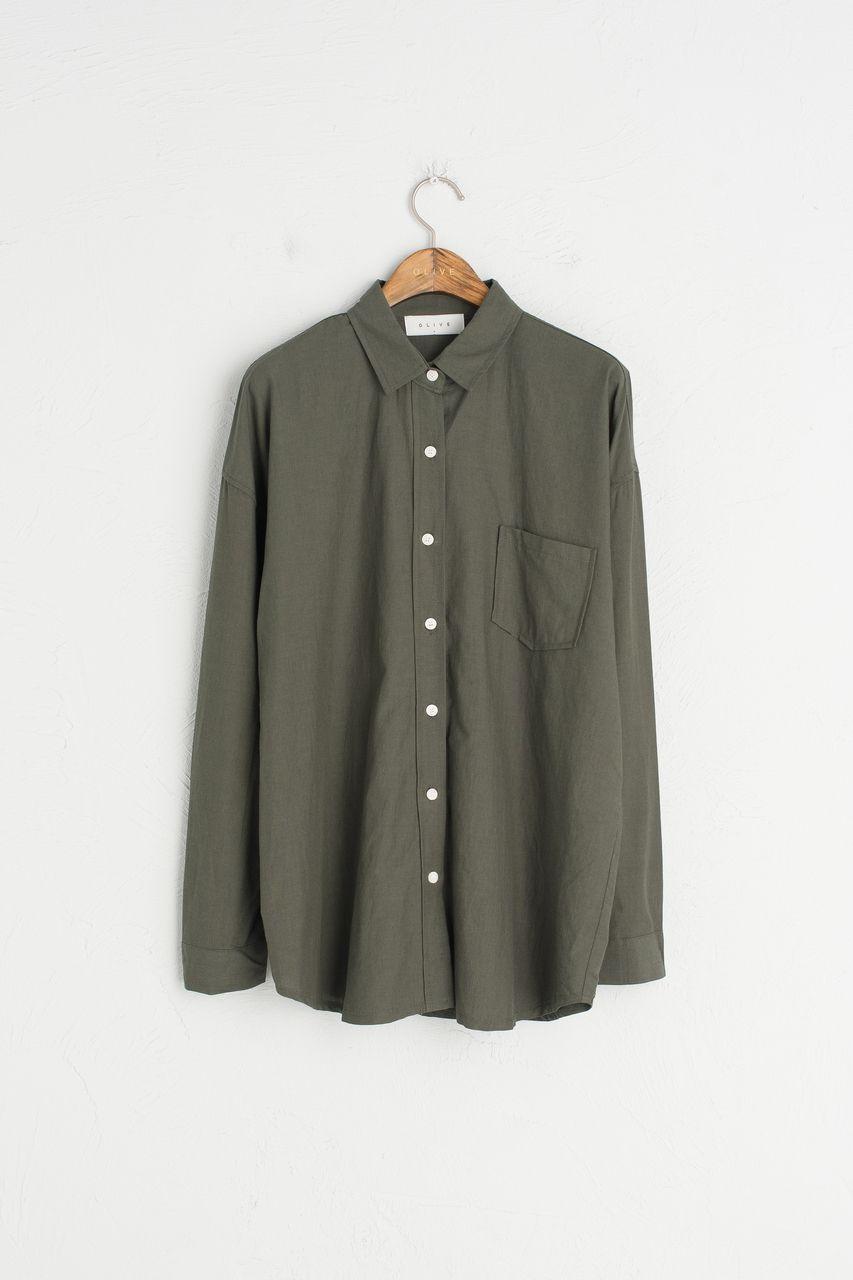One pocket simple shirt green fashion inspiration pinterest