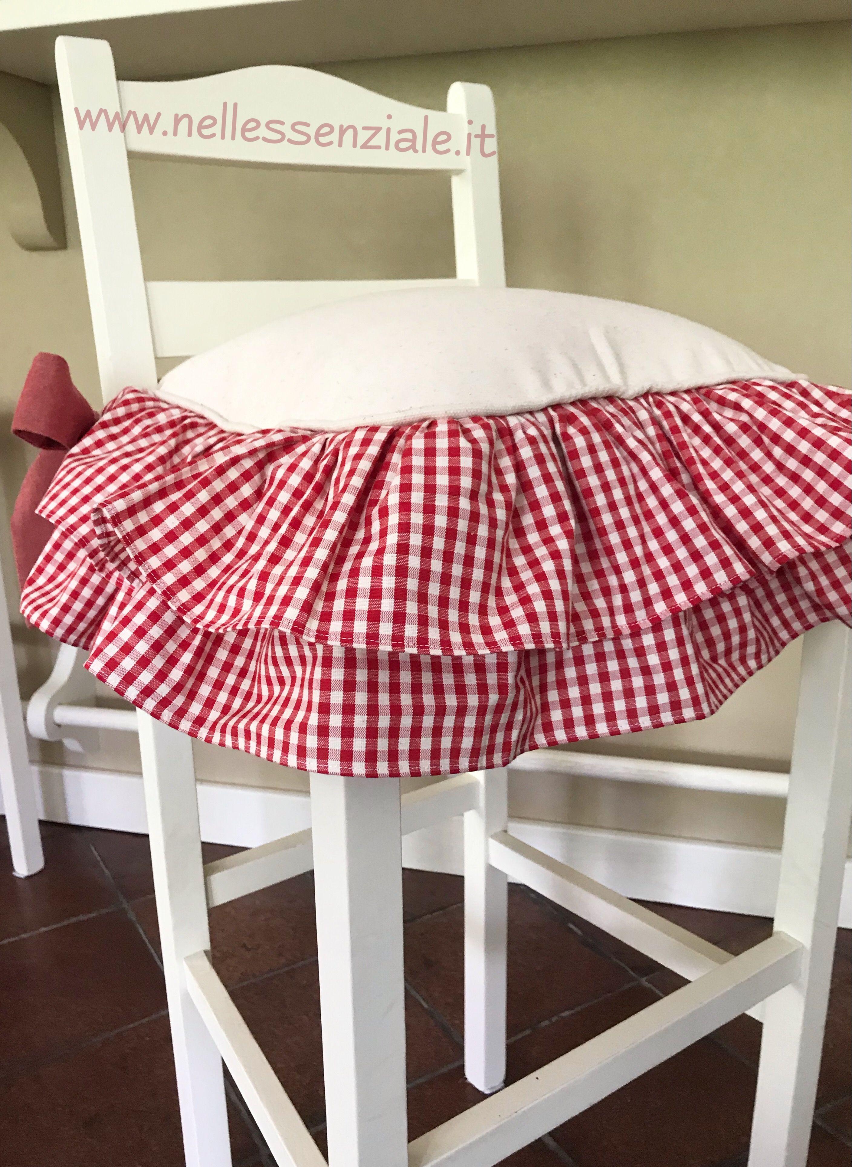 Cuscini sedie per cucina country in rosso | Cuscini per