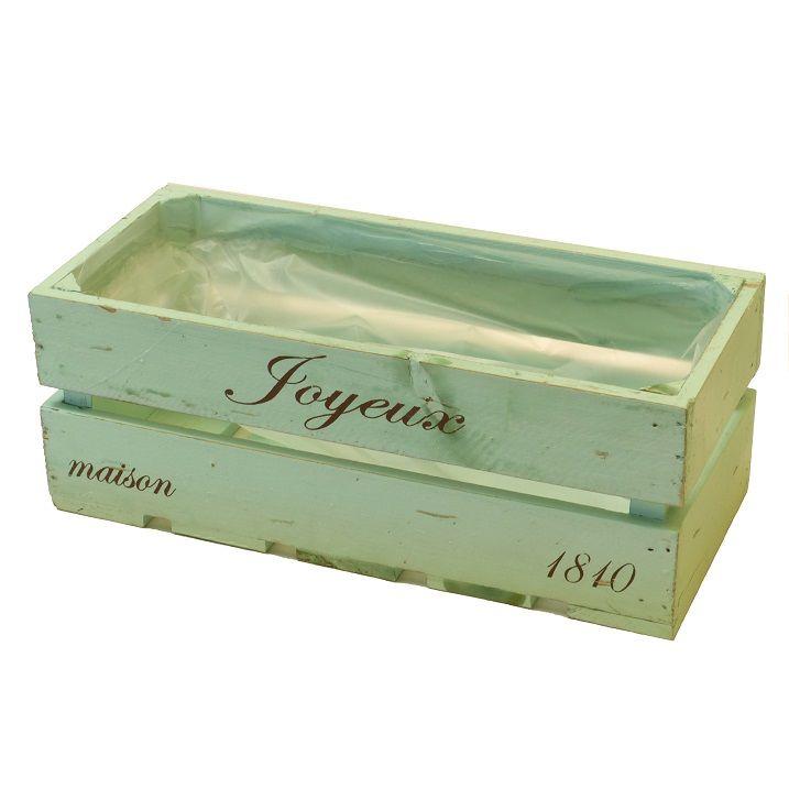 Jardinera rectangular de madera cajas de madera - Macetas originales para plantas ...