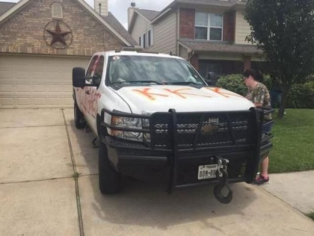 Texas Racists Deface Neighbor's Truck Over His Black Houseguest