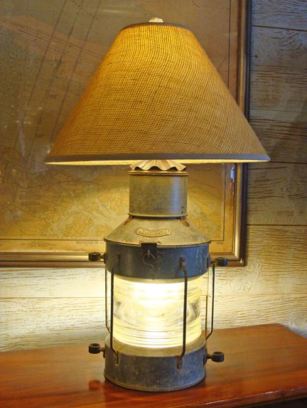 Large Vintage Dutch Made Anchor Quot Ankerlicht Quot Table Lamp
