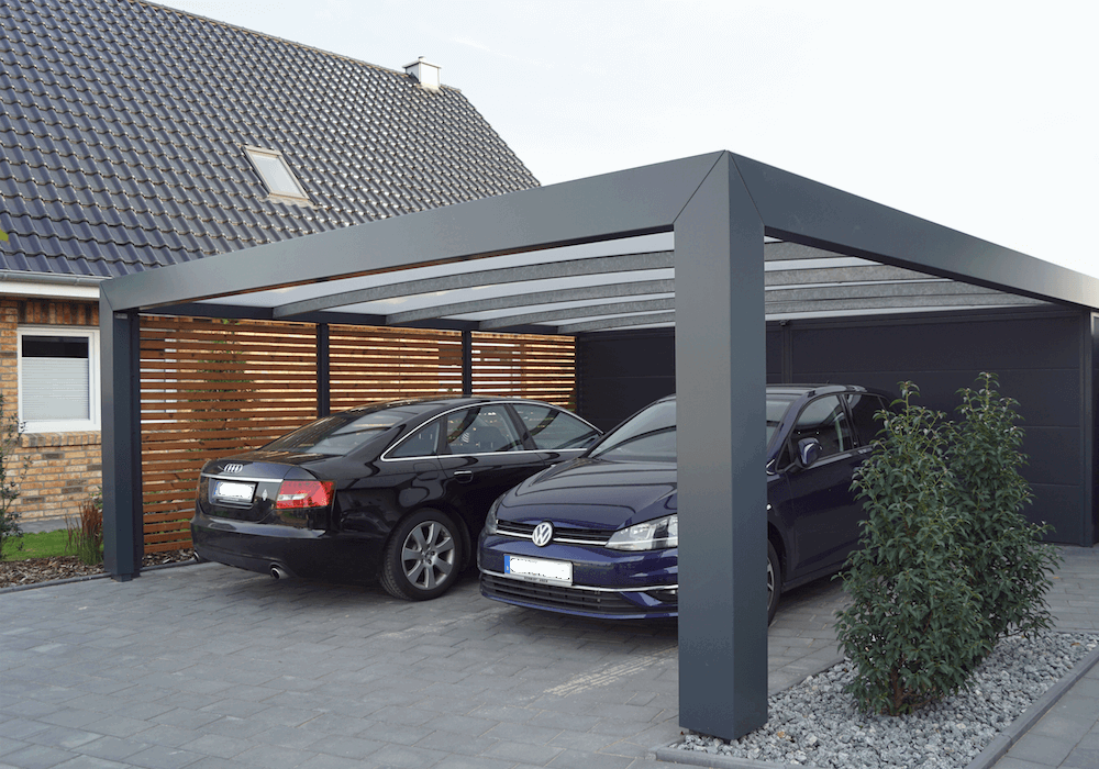 Kubic Carport Carports Hinterhof Haus Garagenbau