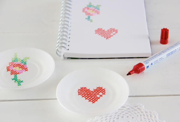 Tutorial cross stitch ceramics mollie makes diy for Ceramic mural tutorials