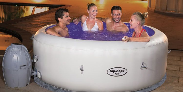 Which Lay Z Spa Inflatable Hot Tub We Review The Best Spas Inflatable Hot Tubs Spa Hot Tubs Hot Tub Reviews