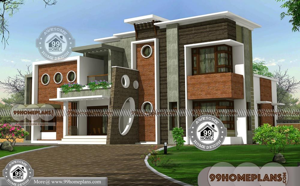 2 Floor Home Design With High Quality Low Budget Latest House Plans House Design Latest House Designs Contemporary House Design