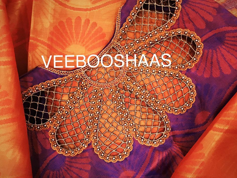 97f52187d4632 floral cut work blouse from veeooshas
