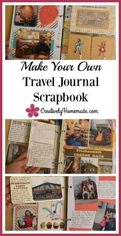 Make Your Own Travel Journal Scrapbook Pinterest Vacation And