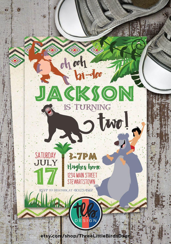 The Jungle Book Birthday Invitation Classic Jungle Book  Etsy