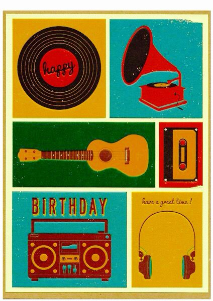 Happy Birthday Card For Music Lover Birthday Wishes Pinterest