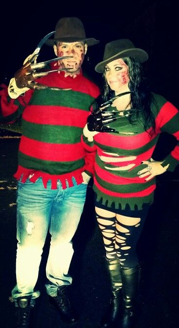Freddy Krueger couple costume The Holidays! Pinterest