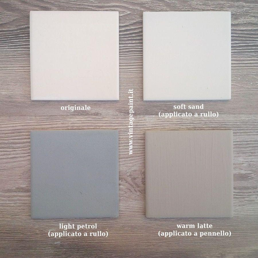 Pittura Per Piastrelle Colori ricolorare le piastrelle con la vintage paint | piastrelle