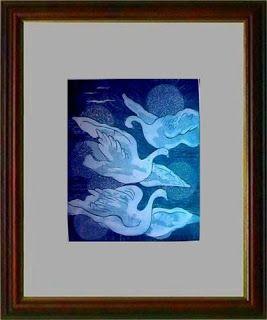 Maria Lucia Pacheco: Maria Lucia Pacheco - 03_Pássaros em azul (1971) I...