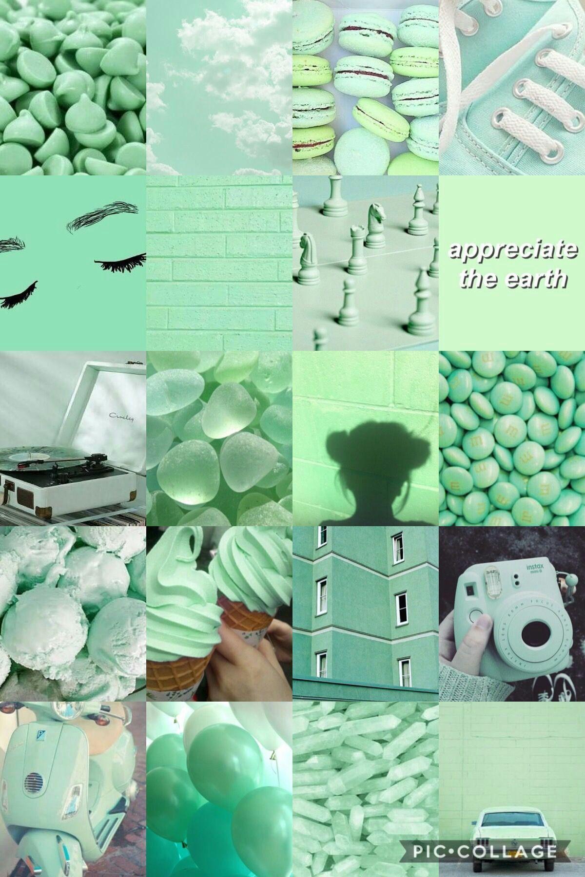 · Aesthetic Wallpaper · in 2020 | Mint green wallpaper ...