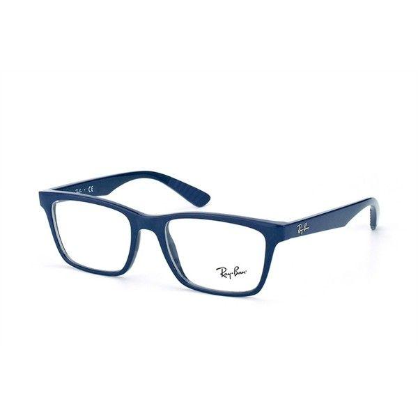 Ray-Ban RX 7025 5419 Dark Blue Eyeglasses ( 120) ❤ liked on ... 342862b01c
