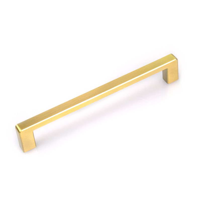 Square Drawer Bar Pull Brushed Gold | Modern Cabinet Handles and ...