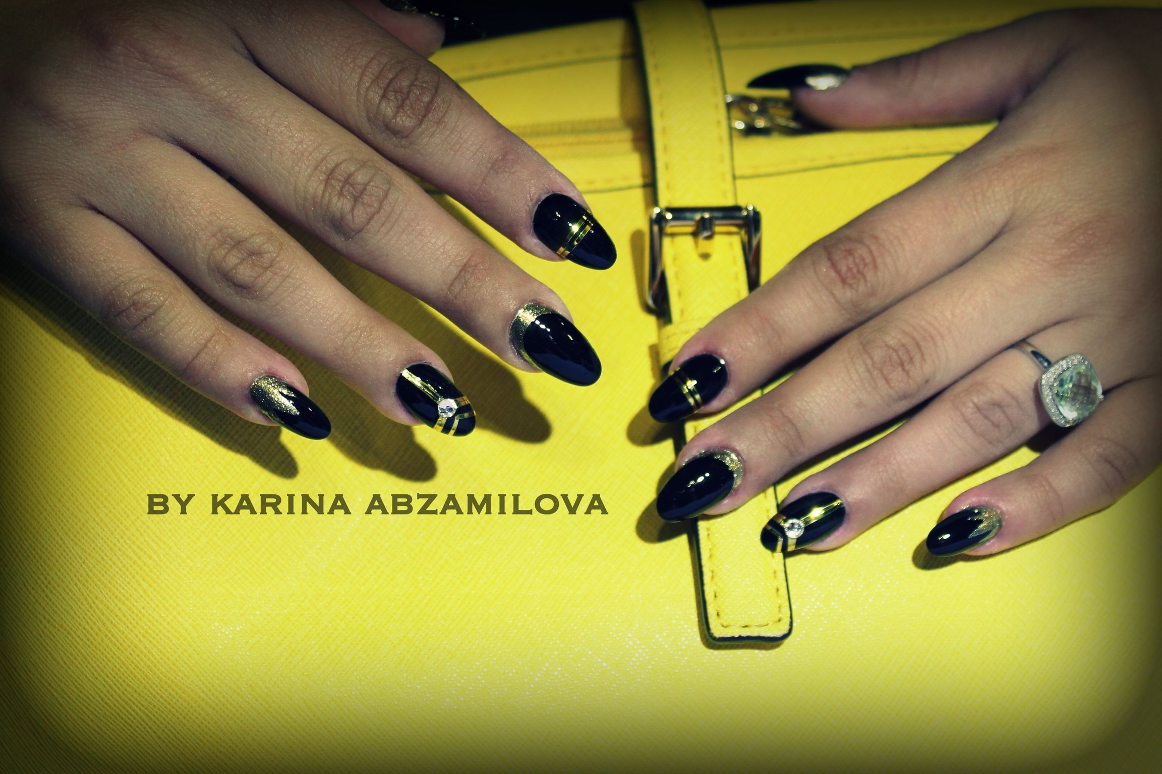 Great Gatsby nails. By Karina Abzamilova