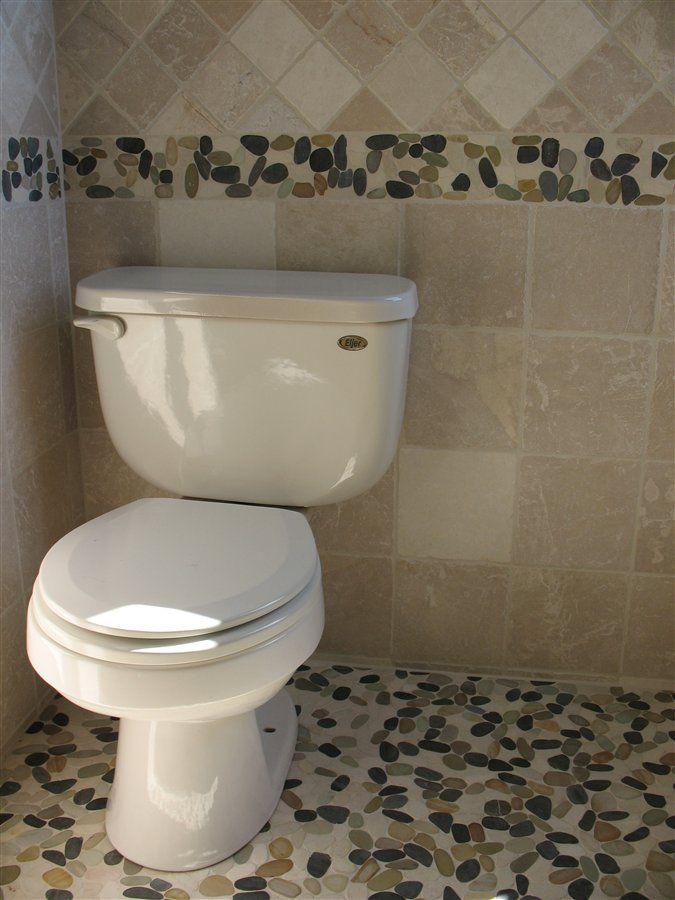 Captivating Bathroom Pebble Tile Border   Google Search