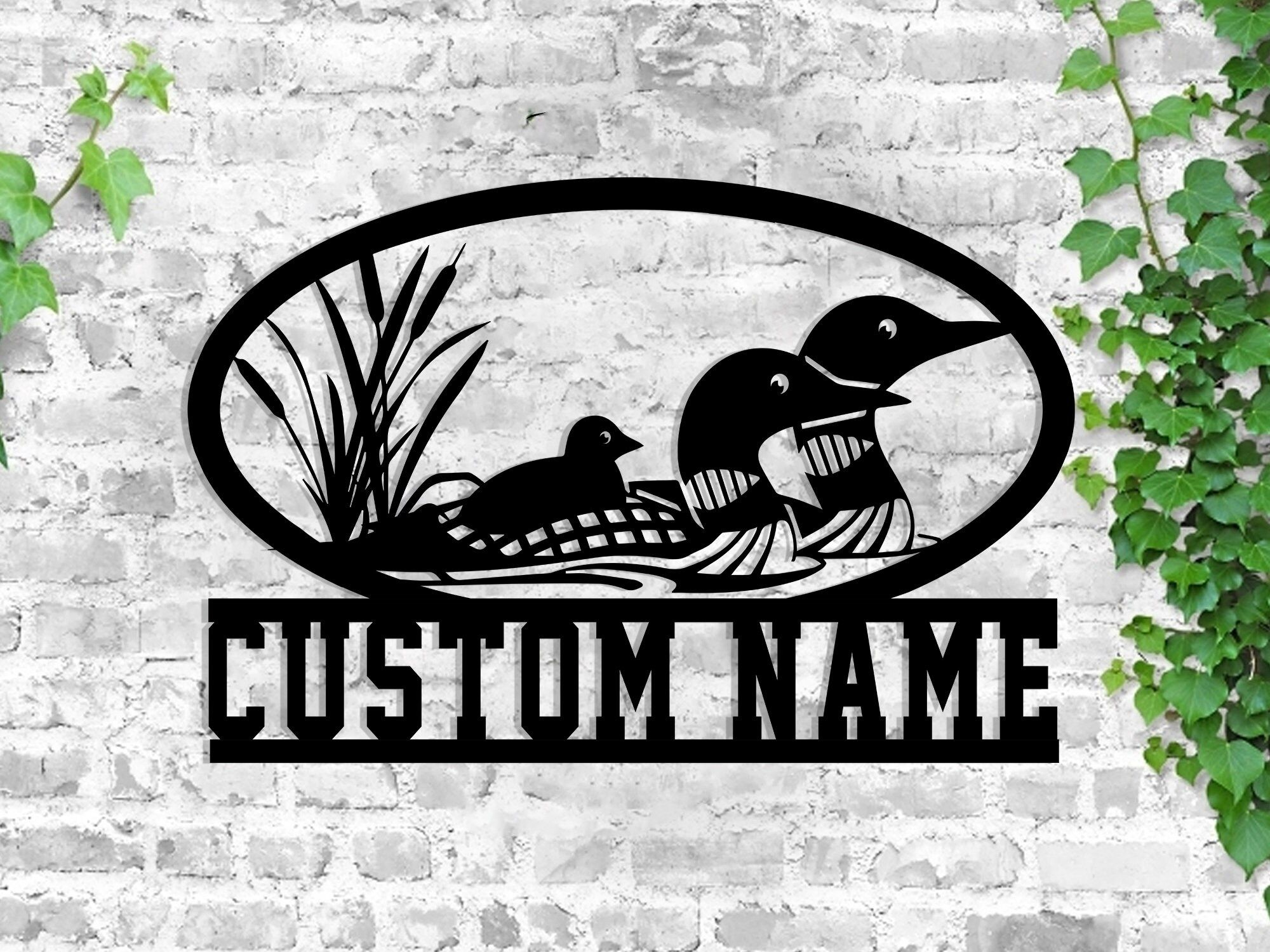 Buy 1 Get 1, Loon Metal Sign, Custom Metal Sign, Lake House Decor, Lake House Sign, Family Name Sign, Metal Wall Art, Metal Sign Custom