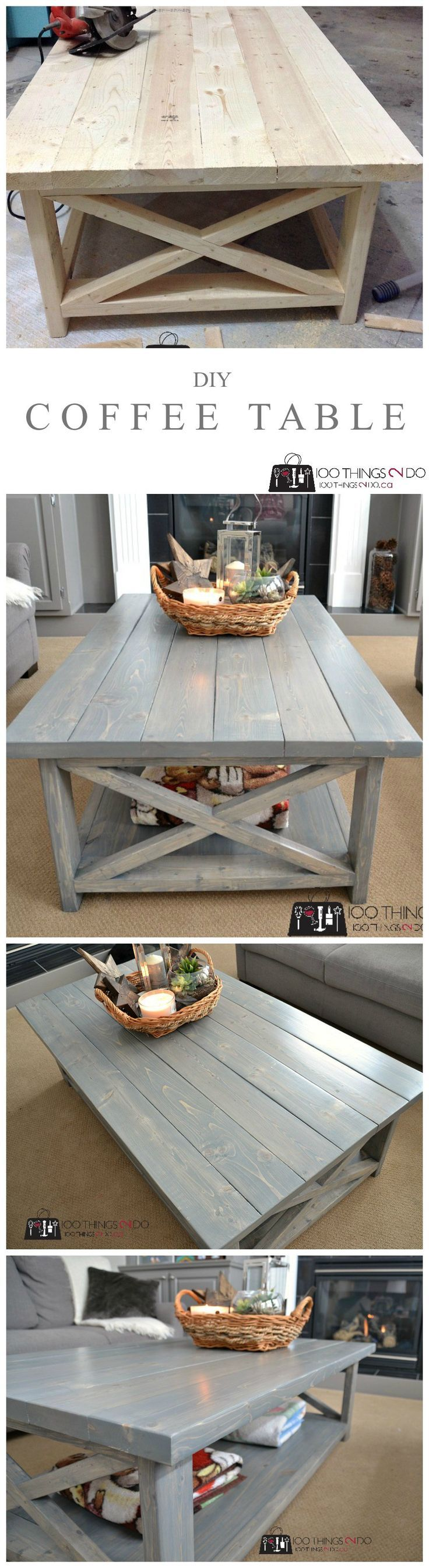 Info's : DIY Rustic X coffee table - build it in an afternoon! (Beginner project)